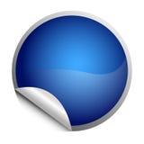голубой стикер иллюстрация вектора