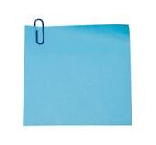 голубой стикер Стоковое Изображение