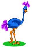 голубой страус иллюстрация вектора