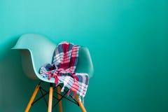 Голубой стул цвета, современный дизайнер стула Стоковые Изображения RF