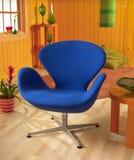 голубой стул Стоковые Фото