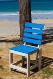 Голубой стул Стоковое Изображение