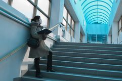 голубой студент света залы Стоковые Фото