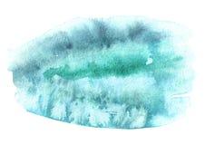 Голубой текстура предпосылки акварели нарисованная рукой Стоковое Изображение RF