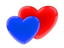 голубой темный красный цвет сердца Стоковые Изображения RF