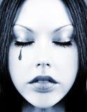 голубой тонизированный mime девушки Стоковое Фото