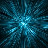голубой тоннель времени Стоковые Изображения RF