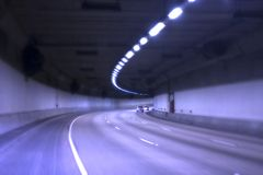 голубой тоннель Стоковая Фотография RF