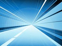 голубой тоннель Стоковые Фото