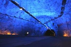 голубой тоннель Стоковые Изображения
