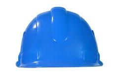 Голубой трудный шлем Стоковое Фото