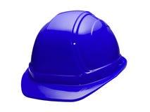 голубой трудный шлем стоковое изображение rf