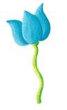 голубой тюльпан иллюстрация вектора