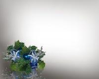 голубой угол рождества иллюстрация штока
