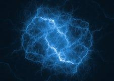 Голубой удар молнии плазмы бесплатная иллюстрация
