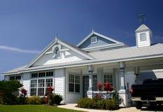 голубой уравновешенный дом Стоковое Изображение