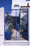 голубой утюг Греции загородки Стоковое Фото