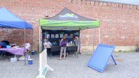 Голубой фестиваль сливы - будочка публичной библиотеки Стоковое Фото