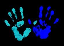 голубой фингерпринт Стоковое Фото