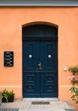 голубой фронт двери Стоковые Фотографии RF
