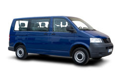 голубой фургон пассажира Стоковые Фото