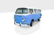 голубой фургон сбор винограда Стоковая Фотография