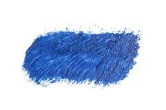 голубой ход кисти изолированной на белизне Стоковые Фотографии RF