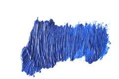 голубой ход кисти изолированной на белизне Стоковое Изображение RF