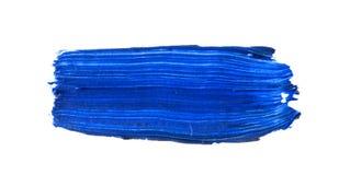 голубой ход кисти изолированной на белизне Стоковые Изображения