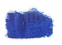 голубой ход кисти изолированной на белизне Стоковое Изображение