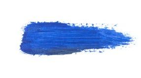 голубой ход кисти изолированной на белизне Стоковые Фото