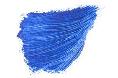 голубой ход кисти изолированной на белизне Стоковое Фото