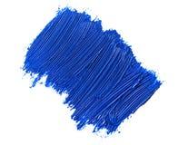 голубой ход кисти изолированной на белизне Стоковое фото RF
