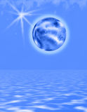 голубой холодный мир Стоковые Изображения RF