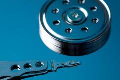 голубой холодный harddisk внутренний Стоковая Фотография RF