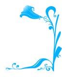 голубой цветок иллюстрация штока