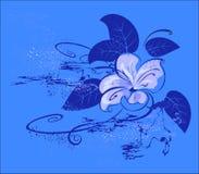 голубой цветок иллюстрация вектора