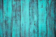 Голубой цвет, предпосылка текстуры доски grunge старая поцарапанная деревянная Стоковое Изображение RF