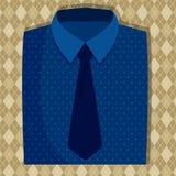 Голубой цвет рубашки и связи Стоковая Фотография