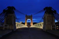 голубой час lyon Франции Стоковые Фото