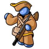 голубой человек охотника иллюстрация вектора