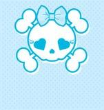 голубой череп Стоковая Фотография