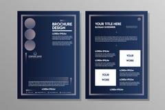 Голубой шаблон брошюры конспекта военно-морского флота для рогульки дела или спорта Leflet бесплатная иллюстрация