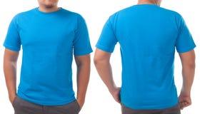 Голубой шаблон дизайна рубашки стоковая фотография