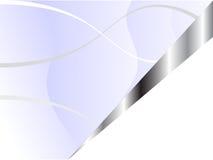 голубой шаблон серебра визитной карточки Стоковая Фотография