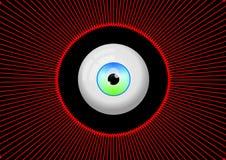 Голубой шарик зеленого глаза бесплатная иллюстрация