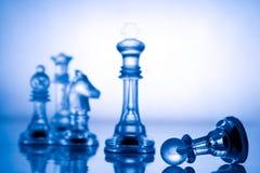 голубой шахмат прозрачный Стоковые Изображения RF