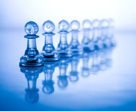 голубой шахмат прозрачный Стоковая Фотография RF