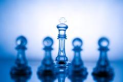 голубой шахмат прозрачный Стоковое фото RF