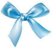 голубой шелк смычка Стоковые Фотографии RF